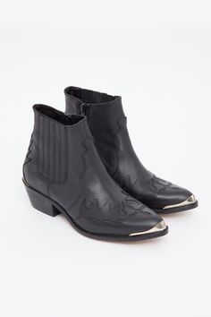To Be Announced - Black Pony Ankle Boot  Love these!!!