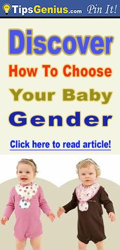 Discover how to choose your baby gender. It is a lovely article, read it!