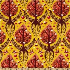 The Birds & The Bees Tree of Life Honey - 1 yd - 8/12 - washed - Whipstitch
