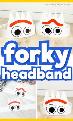 Learn how easy it is to make tis DIY Forky headband craft! It's simple thanks to our free printable template. Perfect for toddlers, preschoolers and elementary children. Disney Crafts For Kids, Crafts For Boys, Disney Diy, Craft Activities For Kids, Diy For Kids, Babysitting Activities, Fun Crafts, Craft Ideas, Toddler Paper Crafts