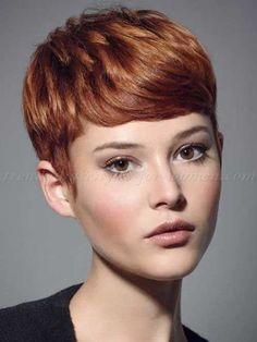 Auburn Pixie Hair