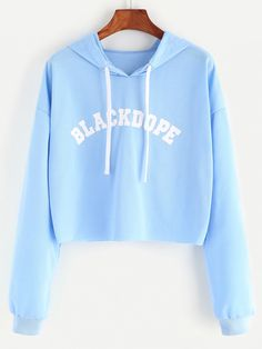 Shop Hooded Letter Print Crop Sweatshirt online. SheIn offers Hooded Letter Print Crop Sweatshirt & more to fit your fashionable needs.