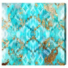 Add a pop of color to your living room or master suite with this eye-catching canvas print, showcasing a geometric motif and vibrant hue.   ...