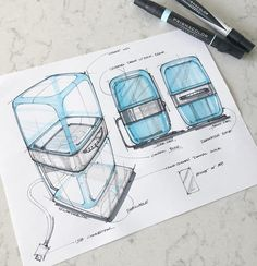 Check this out! A sneak peak into submissions for our latest Sketch Competition.Love this one by 👌🏼Just the sort of thing we're after.have you entered yet? Design Food, Box Design, Sketching Techniques, Architecture Sketchbook, Industrial Design Sketch, Sketches Tutorial, Sketch Markers, Hand Sketch, Sketch Inspiration