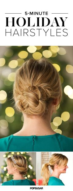 Holiday hair in under 5 minutes