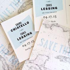 modern destination wedding save the date postcards by hello tenfold