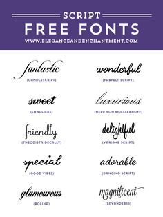Free Script fonts for wedding invitations, graphic design projects, web design…