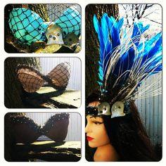 Custom Tahitian Costume - Tahitian Bra Top - Tahitian Dance Costume - Tahitian Feather Headpiece - Polynesian Costume