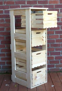 diy crate cabinet with sliding drawers, diy, storage ideas, woodworking projects