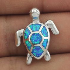 HAIMIS Free The Chain Free Gift Box Cute BlueFire Opal SeaTurtle Design Pendant Necklace For Women OP408 //Price: $26.52 & FREE Shipping //     #hashtag4
