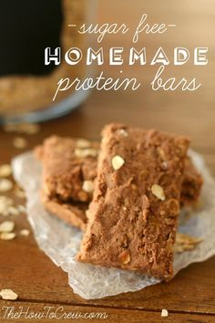These sugar free homemade protein bars are my favorite snack when I have a sweet tooth but want to eat healthy!