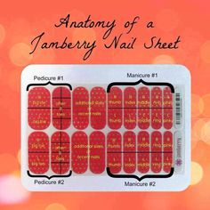 Anatomy of a Jamberry sheet: a graphic to help you know how to apply your wraps. Want more information? Visit my website: http://laurennorris.jamberrynails.net/