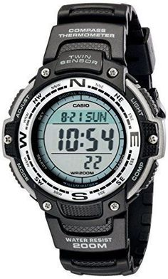 Casio Men's SGW100-1V Resin Compass Watch - Wristwatches