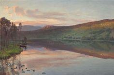 Christian Skredsvig (1854-1924): Sommerkveld ved Djupsjøen