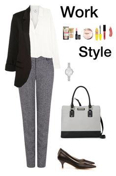 """Work Style (1)"" by irisazlou on Polyvore featuring mode, Pink Tartan, Vince, Nine West, Kate Spade, Garnier, NYX et Maybelline"