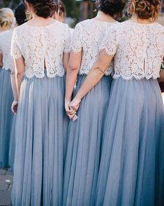 Hochzeit Skylar Skirt in Tulle Bridesmaid Separates Two Piece Bridesmaid Dresses, Bridesmaid Separates, Tulle Skirt Bridesmaid, Bridesmaid Outfit, Wedding Bridesmaids, Wedding Gowns, Bridesmaid Gowns, Wedding Skirt, Bridesmaid Ideas