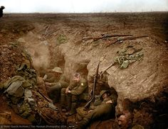 Welsh Guardsmen in a reserve trench, Guillemont, - September The Battle of Guillemont was part of the Battle of the Somme, the largest battle of the First World War, with over men wounded or killed on both sides. World War One, Second World, First World, British Soldier, British Army, Ww1 Battles, Ww1 Soldiers, Battle Of The Somme, Military History