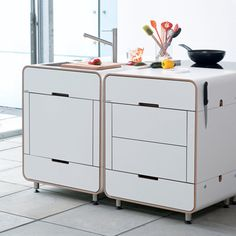 Self contained modular kitchen by Oliver Krapf and Linda Altmann, C/o Dwell Magazine