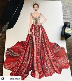 Blake Lively's Versace gown for the Met Gala 2018 - fashion illustration Fashion Model Drawing, Fashion Drawing Dresses, Fashion Illustration Dresses, Dress Illustration, Fashion Design Drawings, Fashion Sketches, Fashion Illustration Tutorial, Fashion Dresses, Illustration Sketches