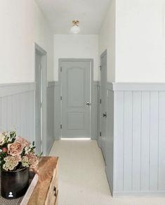 Builder Grade, Painted Doors, Kitchen Paint, Wainscoting, Life Is Beautiful, Bedroom, Anastasia, Furniture, Home Decor