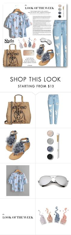 """""""Blue Dreamer"""" by lady-of-rose ❤ liked on Polyvore featuring Moschino, H&M, Terre Mère and Rebecca Minkoff"""