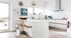 A collection of interior designs which features 17 Exceptional Scandinavian Kitchen Interiors Every Gourmet Would Love. Scandinavian Home Interiors, Scandinavian Kitchen, Interior Design Images, Interior Design Kitchen, Kitchen Furniture, Kitchen Decor, Kitchen Ideas, Real Kitchen, Kitchen Images