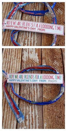 Super Ropes Valentines For Kids. Cute idea for class Valentines!