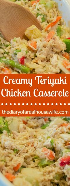 Amazing Creamy Teriyaki Chicken Casserole. I LOVE this recipe and it was a big hit for family dinner.