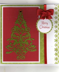 Maureen's Mixture: Lace Tree (trim the tree cartridge) Christmas Crafts, Merry Christmas, Cricut Cartridges, Cricut Cards, Winter Cards, Xmas Cards, Handmade Cards, Card Ideas, Card Making
