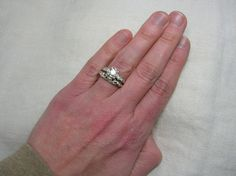 Vintage Wedding Ring Set Stunning Large Ornate late by AuldBaubles, $2,200.00