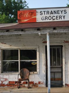 My Grandma had a little Country Store in the and I remember sitting on the back step, drinking Yoohoo! Old General Stores, Old Country Stores, Country Life, Country Roads, Old Buildings, Abandoned Buildings, Abandoned Places, Abandoned Property, Old Gas Stations