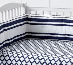 I registered for this fitted sheet and crib liner at pbkids. Not sure if it goes with everything: http://www.potterybarnkids.com/products/9409330/?registryId=3900847&fromrgl=1
