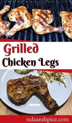 Drumsticks, thighs, or the whole leg. No matter which cut you use, you will love to make these BBQ chicken legs on the grill! #grilledchickenthighs #grilledchickendrumsticks #grilledchickenlegs #chickenthighrecipes Grilled Chicken Drumsticks, Grilled Chicken Legs, Bbq Chicken Legs, Chicken Thigh Recipes, Grilling, Yummy Food, Meals, Breakfast, Morning Coffee