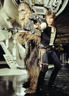 Chewbacca and Han Solo (Harrison Ford)