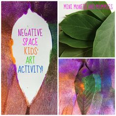 Kids' science and art activity! Paint a negative space using plants.