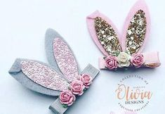 Bunny ears hair clips S A F E T Y -------------- Our items are for accessorising purposes only and are not toys. Please supervise your children when wearing our products C U S T O M ----------------- I love making custom orders so please send me a message with any request. I N
