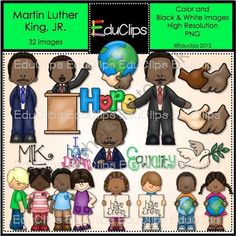 Martin Luther King Clip Art Bundle from Educlips on TeachersNotebook.com -  (32 pages)  - The Life and Times of Martin Luther king Jr.