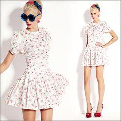 Women's Floral Princess Sleeve Dress - $44.75 | zoesshop