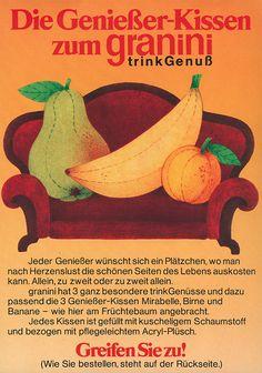 1974 | granini in aller Munde – …und in allen Haushalten? Umfragen zeigen, dass 1974 fast 95 % aller Bundesbürger unsere Marke kennen.
