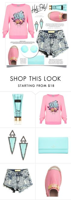 """Sweet afternoon ♥"" by teryblueberry ❤ liked on Polyvore featuring Wildfox, Nina Gilin, Kate Spade, Moschino and Victoria Beckham"