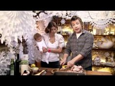 Jamie Oliver : gives the lowdown on all the recipes needed for the perfect, stress-free Christmas Day, simple and succulent turkey, tasty stuffing, golden roasties, luscious gravy, and all the veg.     There are puds galore too, including a winter pudding bombe, DIY chocolate truffles and - of course - mince pies.     And it's all washed down with Jamie's recipe for mulled wine.