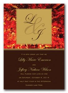 Cheap Fall Wedding Invitations | The Wedding Specialists