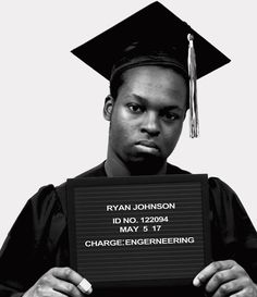 "'The Mugshot Series' Reverses Ugly Stereotypes Of Black Men - To combat those frequent misrepresentations, Brown created a powerful photo series that flips the narrative on its head.  The photo project is titled ""The Mugshot Series,"" and it includes seven black-and-white images of young black men dressed in cap and gown holding plaques that indicate their names, ages and academic majors. The project is part of a larger campaign Brown launched called ""A Perception of Complexion."""