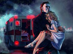 Horror Villains, Horror Movie Characters, Horror Movies, Halloween Movies, Halloween Horror, Scary Movies, Michael X, Michael Myers, Horror Artwork