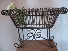 WROUGHT IRON Planter Old Rustic XLGarden by MyVintageChicCharm, $75.00