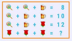 Can you solve the flower beer chocolate picture puzzle?