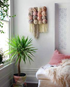 DIY tapiz con pompones de lana - Contenido seleccionado con la ayuda de http://r4s.to/r4s