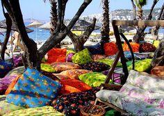Colorful-cushions-at-Bitez-Beach-Turkey.jpg | Travel Globe