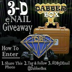 @rest_in_peace_ase -  @dabberbox -  it's that time again! A new year brings a new  @dabberbox #giveaway!!!! We are giving away one of our brand new  #3DPrinted custom #DB Diamond Shaped ENails. In blue and orange UV reactive finish!  Fitted with a 16mm XLR beaded heating cool and USB charge port this enail is all you need for a proper dabbing station!  ENTER WITH 3 EASY STEPS!! 1. Share this photo  2. FOLLOW & TAG @DABBERBOX 3. Must hashtag #DB3DEnail  WINNER WILL BE CHOSEN (02.14.16)  Must…