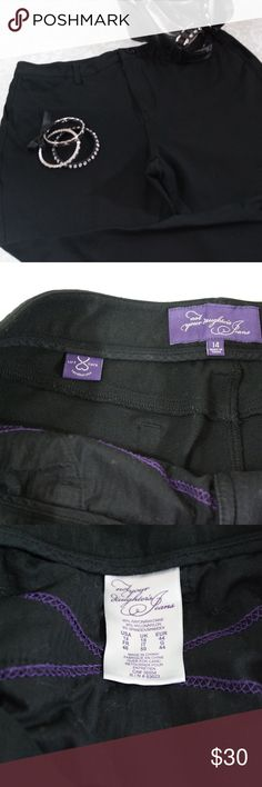 PLUS Black Not Your Daughter's Jeans Pants Size 14 Super flattering black pants with a lot of stretch.  Excellent condition.  Size 14.   See photos for measurements.  Bundle your likes for a private offer or make an offer!  All reasonable offers accepted.  Thank you for shopping my closet!  :0) NYDJ Pants
